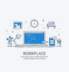 workplace for web vector image vector image