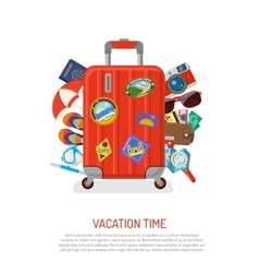 Vacation and summer concept vector