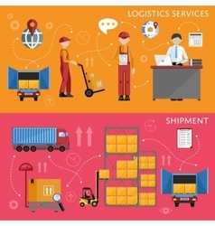 Logistic process infographics vector