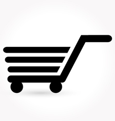 Black simple shopping icon vector