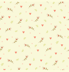 seamless with flowers vector image