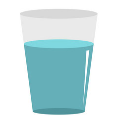 glass water icon isolated vector image