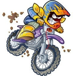 Bmx dirt bike rider vector