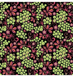 Stylized floral design seamless vector
