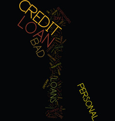 Meet required finance through bad credit personal vector