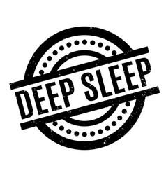 Deep sleep rubber stamp vector