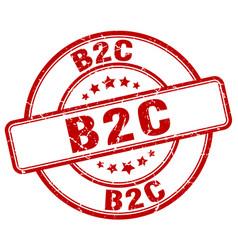 B2c red grunge stamp vector