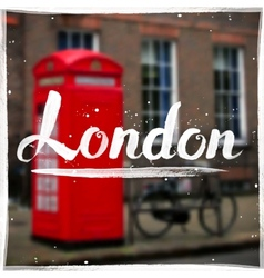 London calligraphy sign on blurred background vector image