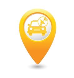 cars satelite MAP pointer yellow vector image