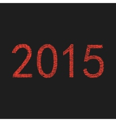 Red 2015 year sketch vector