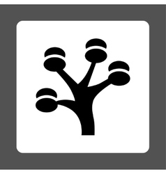 Money tree icon from commerce buttons overcolor vector