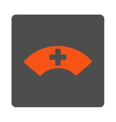Medical visor rounded square button vector