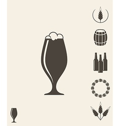 Beer Icon set Design element vector image