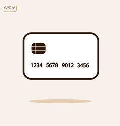 Credit plastic card vector