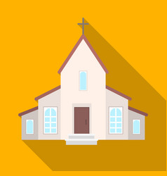 a church with a cross on the roof easter single vector image