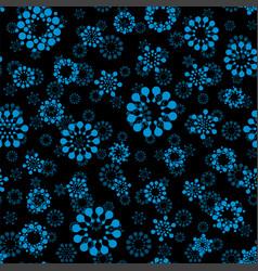 Abstract winter snow seamless circles design vector