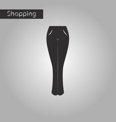 Black and white style icon women jeans vector