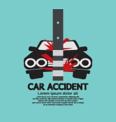 Car Accident With Pole vector image
