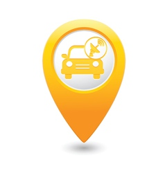 cars satelite MAP pointer yellow vector image vector image