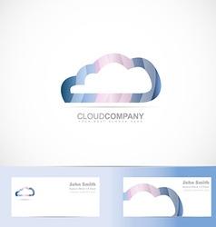 Cloud computing logo 3d vector