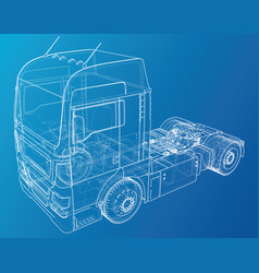 eurotrucks isolated on blue background delivering vector image