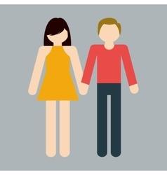 Heterosexual couple icon image vector