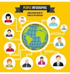 Human infographic flat style vector image vector image