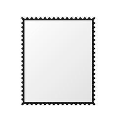 postage stamp blank mockup vector image vector image