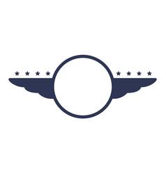 race empty emblem vector image