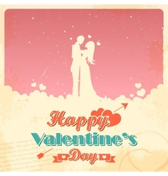 Retro love background vector
