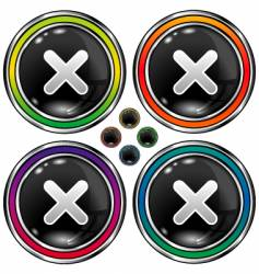 round X buttons vector image vector image