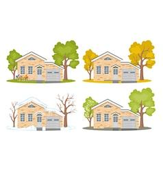 Seasons-house vector