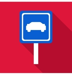 Sign car icon flat style vector