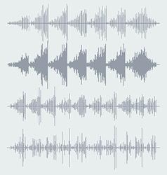 Sound waves set audio equalizer technology pulse vector