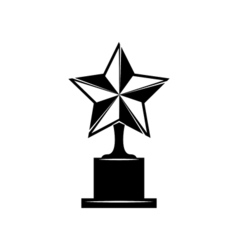 Star award icon isolated on white vector