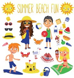Summer beach fun vector