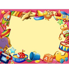 Toys banner vector image vector image