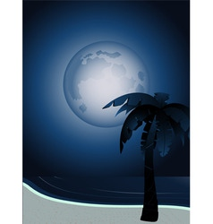 tropical full moon vector image