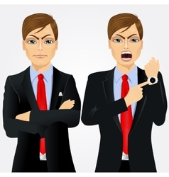Two angry businessmen vector