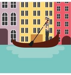 Venecia city icon italy culture design vector
