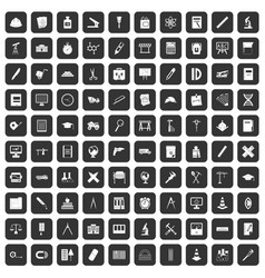 100 compass icons set black vector