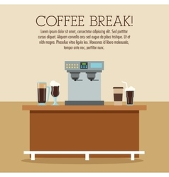 Coffee machine break shop icon graphic vector