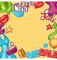 Sale background with female clothing and vector