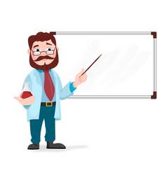 senior science teacher scientist professor vector image