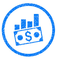 Money charts rounded grainy icon vector