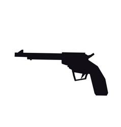 gun pistol bullets ornate detailed tattoo design vector image