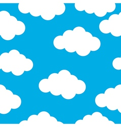 Cloud seamless pattern vector image