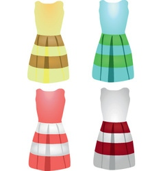 4 dresses vector