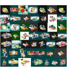 Paper graphic banners set mega collection vector image