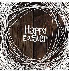 Easter card wooden background vector